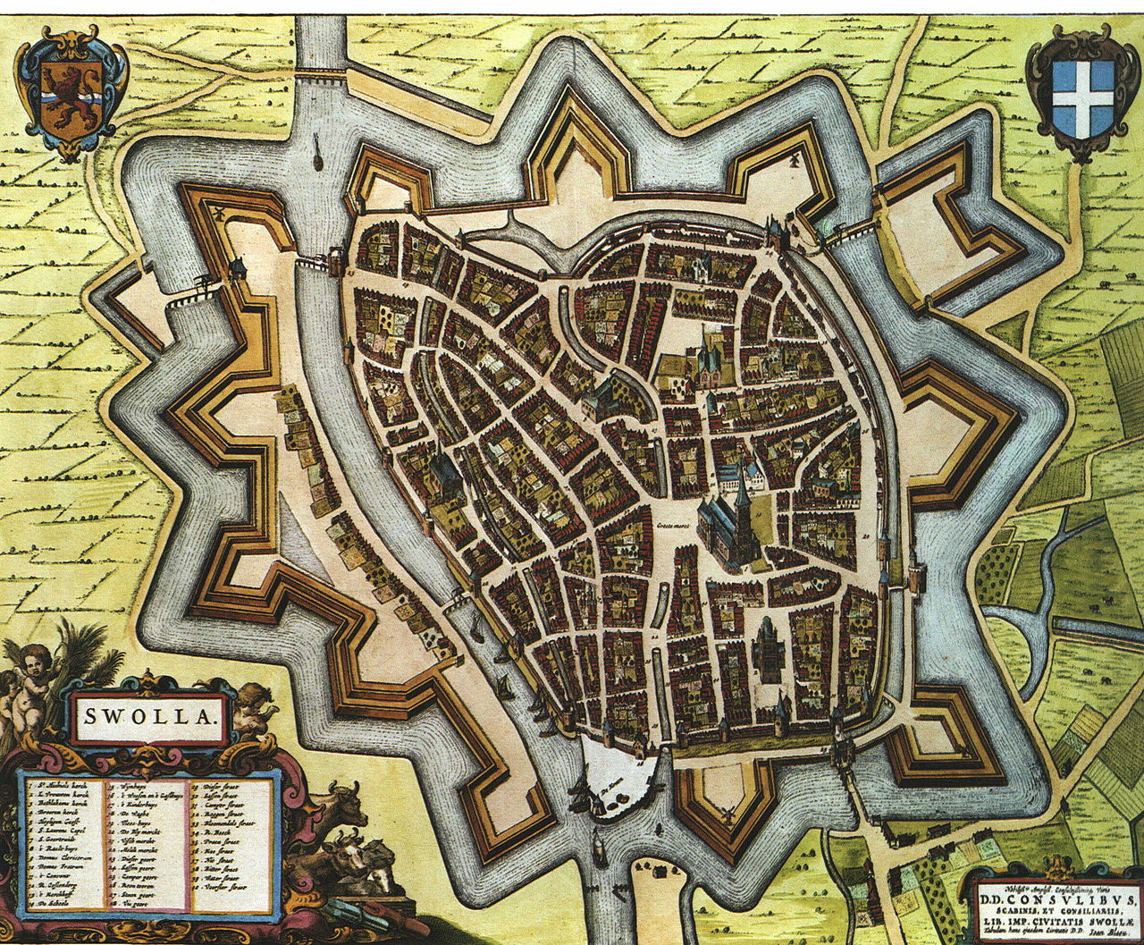Historical map of Zwolle