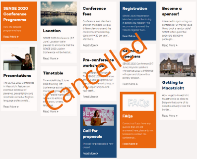 SENSE 2020 Conference Cancelled